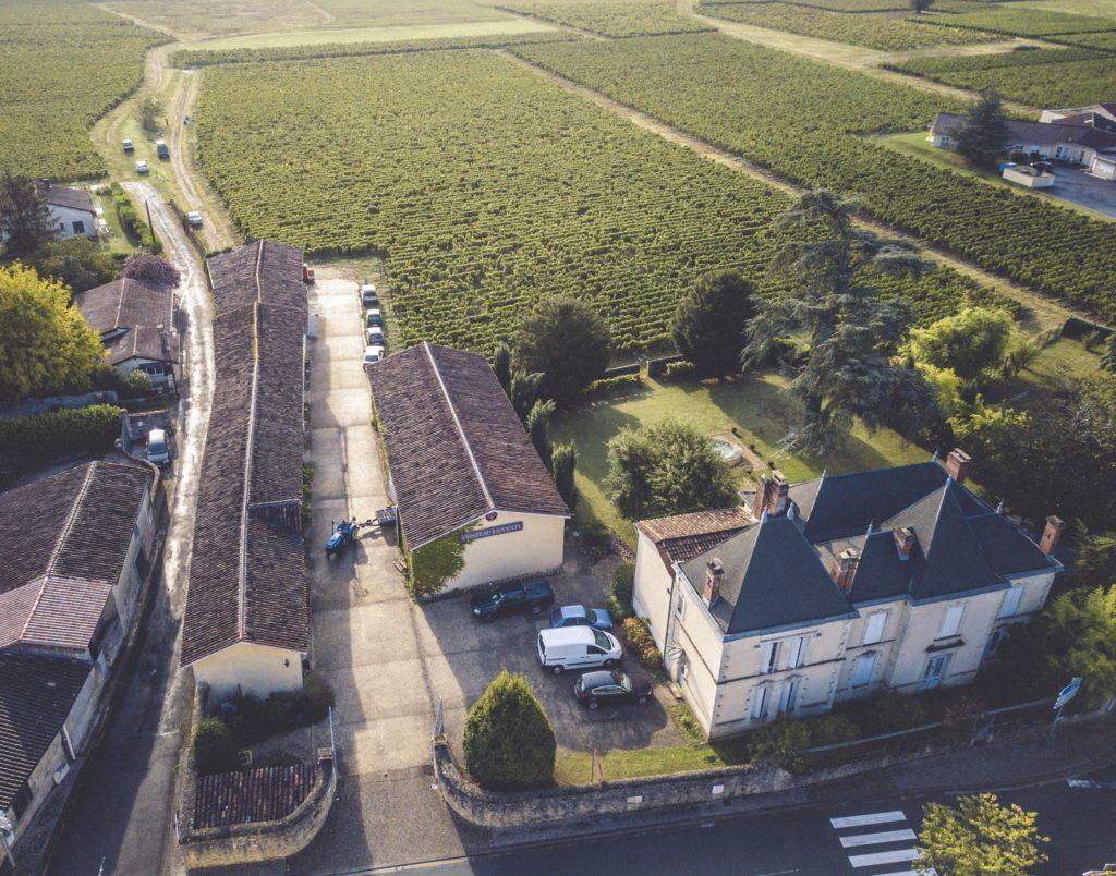 Vue aérienne destination Château Jouvente