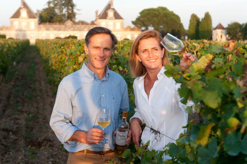 Couple propriétaires Château de Cérons