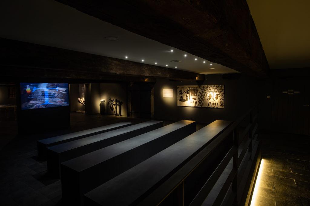 Salle de scénographie du Château de Portets
